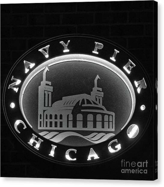 Navy Pier Chicago Sign Canvas Print