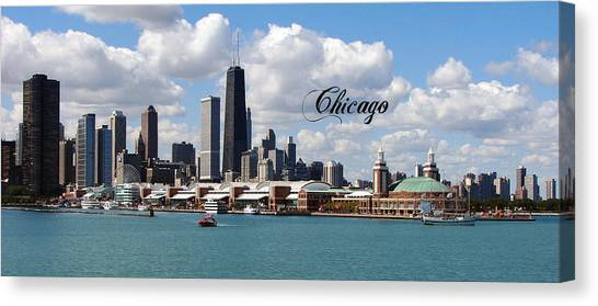 Navy Pier In Chicago Canvas Print