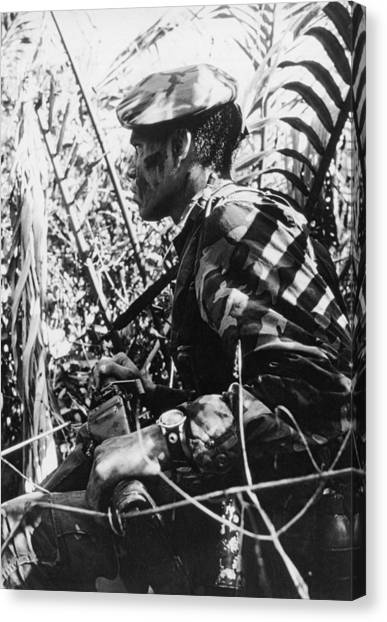 Navy Seal Canvas Print - Navy Seal In Mekong Delta by Underwood Archives
