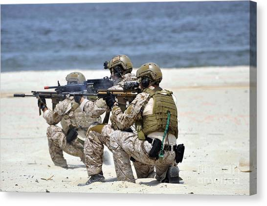Navy Seal Canvas Print - Navy Seals Participate by Stocktrek Images