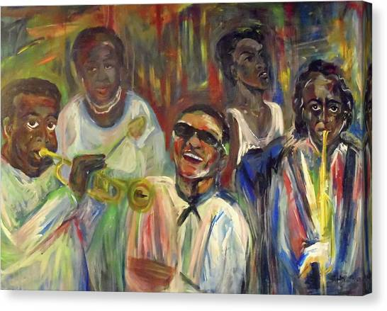 Nawlins Jazz Canvas Print by Made by Marley