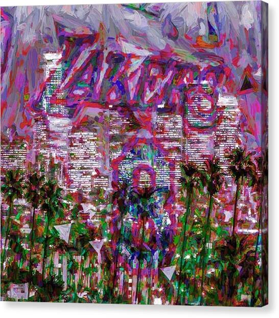 Hollywood Canvas Print - @nba @nbatv #nba #nbatv @lakers #lakers by David Haskett II