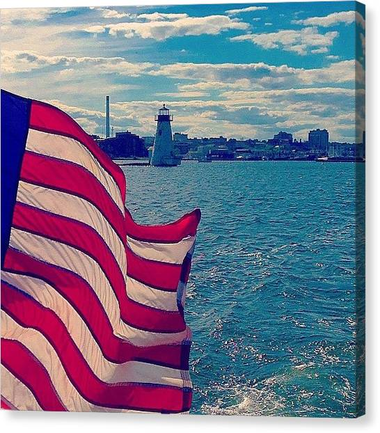 United States Of America Canvas Print - Freedom On The Water by Kate Arsenault