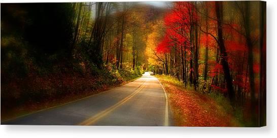 Nc Mountain Fall Drive Canvas Print