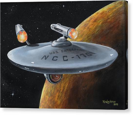 Starship Enterprise Canvas Print - Ncc-1701 by Kim Lockman