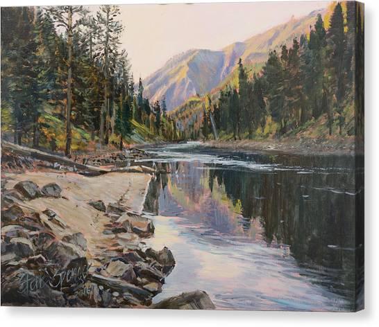 Near Smith Gulch Canvas Print by Steve Spencer