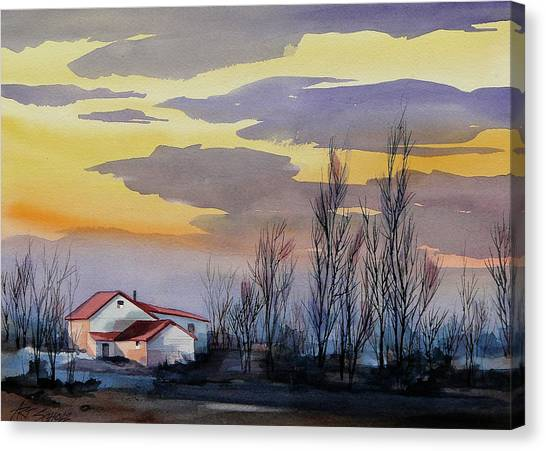 Near Sundown Canvas Print by Art Scholz