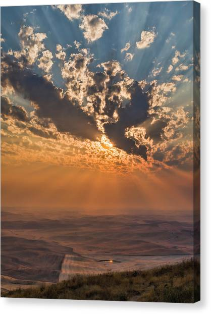Mcherdering Canvas Print - Near Sunset by Mike Herdering
