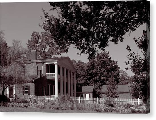 Canvas Print featuring the photograph Near The House - The Hermitage by James L Bartlett