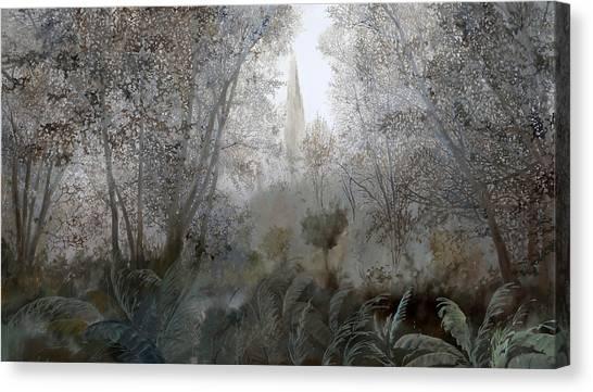 Jungles Canvas Print - Nebbia Nel Bosco by Guido Borelli