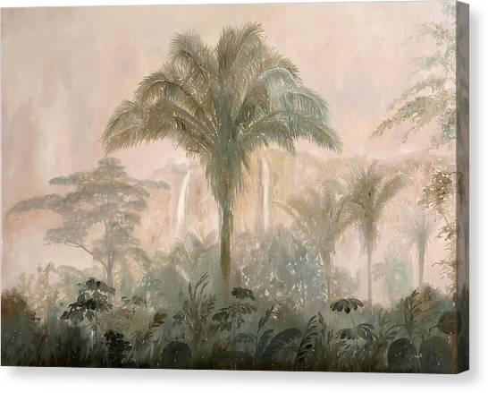 Jungles Canvas Print - Nebbia Nella Jungla by Guido Borelli
