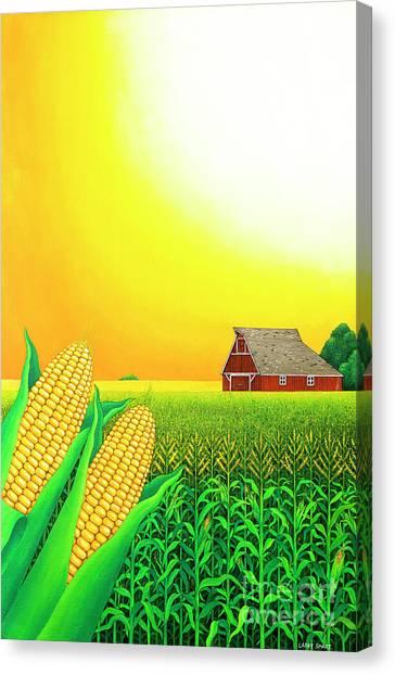 Nebraska Canvas Print - Nebraska Cornfield by Larry Smart