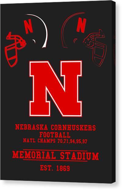 Nebraska Canvas Print - Nebraska Cornhuskers 2 by Joe Hamilton