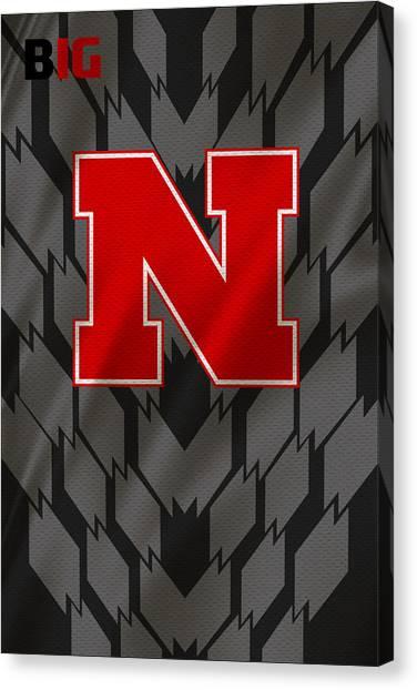 Nebraska Canvas Print - Nebraska Cornhuskers Uniform by Joe Hamilton