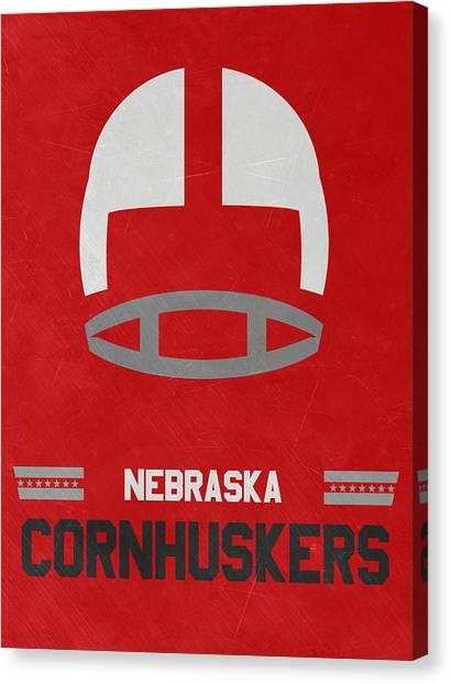 Nebraska Canvas Print - Nebraska Cornhuskers Vintage Art by Joe Hamilton