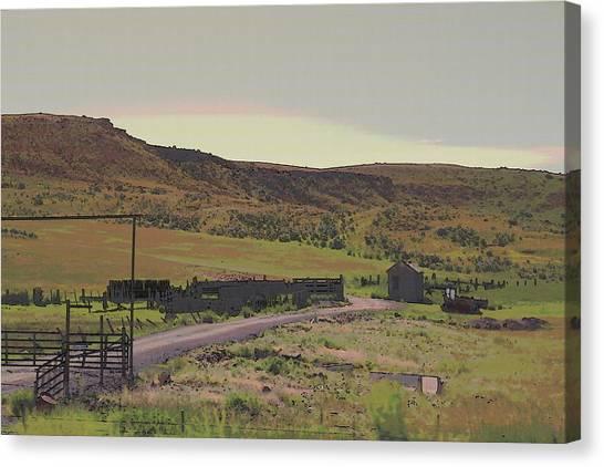 Nebraska Farm Life - The Paddock Canvas Print