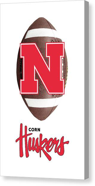 University Of Nebraska Canvas Print - Nebraska Football by Daniel Hagerman
