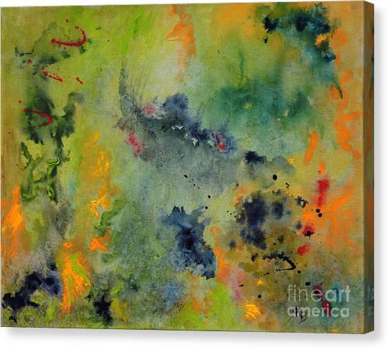Canvas Print featuring the painting Nebula by Karen Fleschler