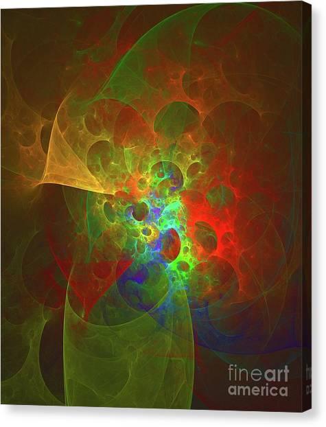 Fibonacci Canvas Print - Nebula Spectrum by Raphael Terra