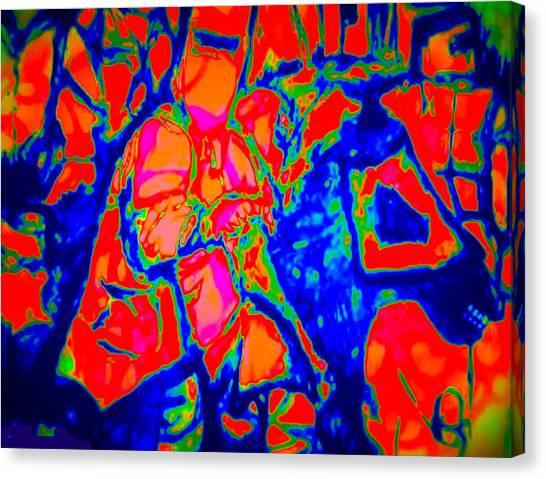 Ned Kellt Gang Art - Blue Seeya Canvas Print by J Kamaru