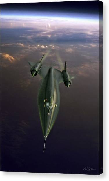 Cia Canvas Print - Need For Speed A-12 Oxcart by Peter Chilelli