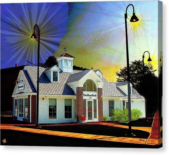Needham Bank Ashland Ma Canvas Print