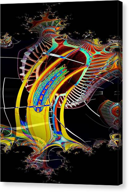 Needle In Fractal 4 Canvas Print