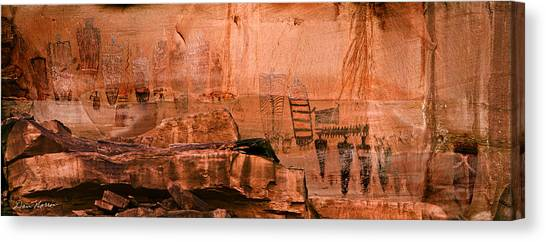 Needles Pictographs Canvas Print
