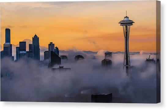 Needling The Fog Canvas Print