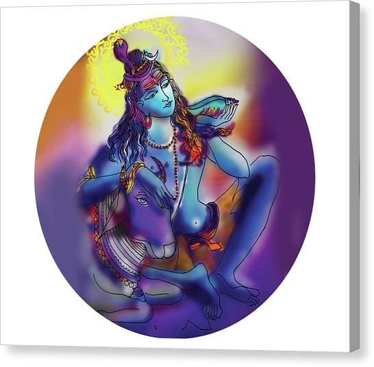 Neelakanth Shiva  Canvas Print