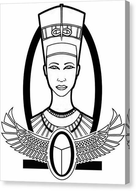 Nefertiti Canvas Print by Alysa Sheats