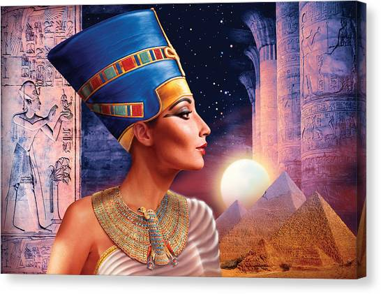 Egyptian Canvas Print - Nefertiti Variant 5 by Andrew Farley