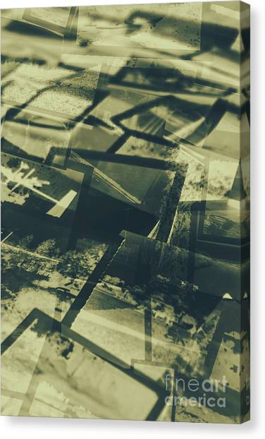 Vintage Polaroid Canvas Print - Negative Photos In Dark Room by Jorgo Photography - Wall Art Gallery