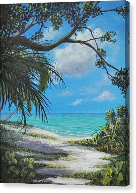 Negril Footpath Canvas Print