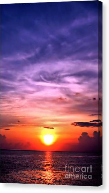 Negril Sunset Canvas Print