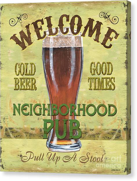 Pub Canvas Print - Neighborhood Pub by Debbie DeWitt