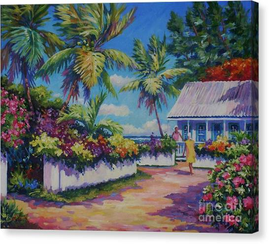 Fiji Canvas Print - Neighbours by John Clark