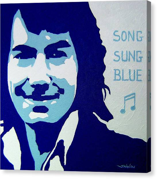 Neil Diamond Canvas Print by John  Nolan