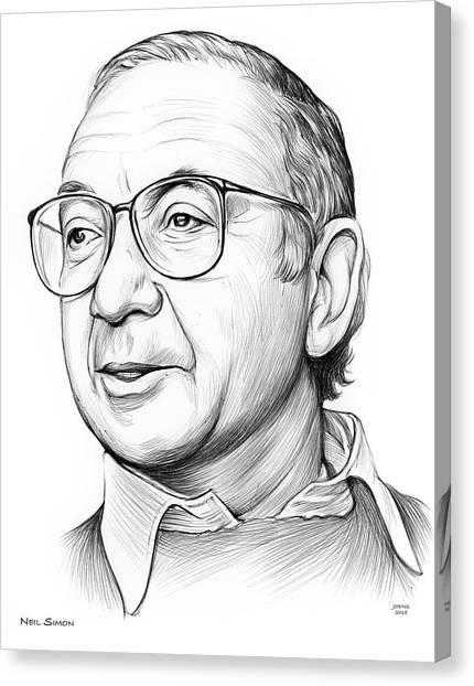 Writer Canvas Print - Neil Simon by Greg Joens