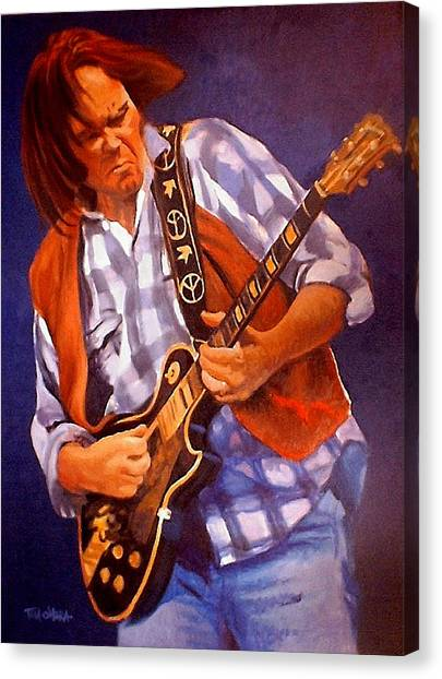 Neil Young Canvas Print - Neil by Tom O'Hara