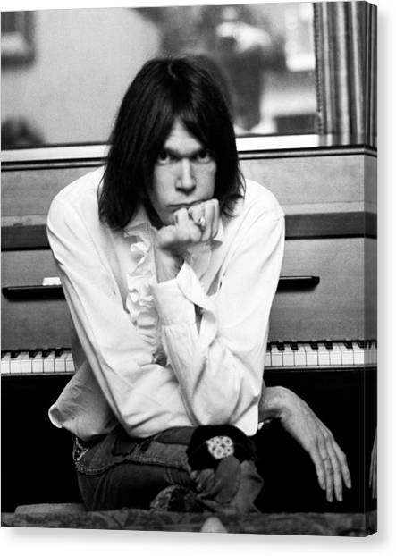 Neil Young Canvas Print - Neil Young 1970 by Chris Walter