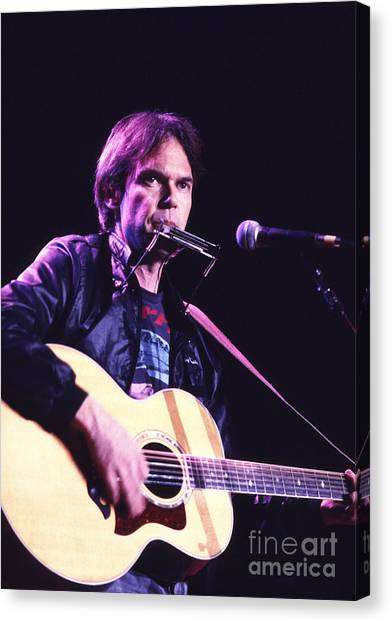 Neil Young Canvas Print - Neil Young 1986 #3 by Chris Walter