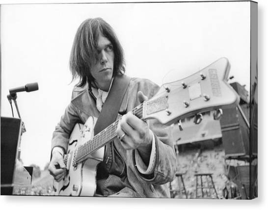 Neil Young Canvas Print - Neil Young by Kenneth Summers