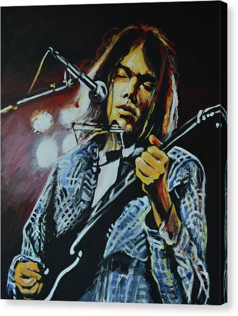 Neil Young Canvas Print - Neil Young by Melissa O'Brien