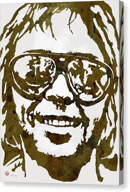 Neil Young Canvas Print - Neil Young Pop  Stylised Art Sketch Poster by Kim Wang