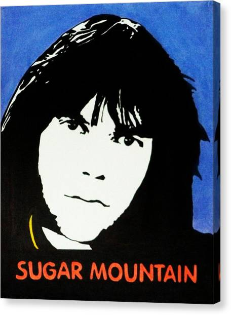 Neil Young Canvas Print - Neil Young Sugar Mountain by Kenneth Regan