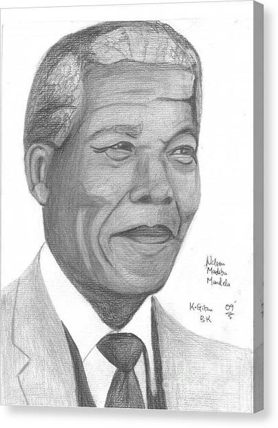 Nelson Mandela Canvas Print by Chris Gitau