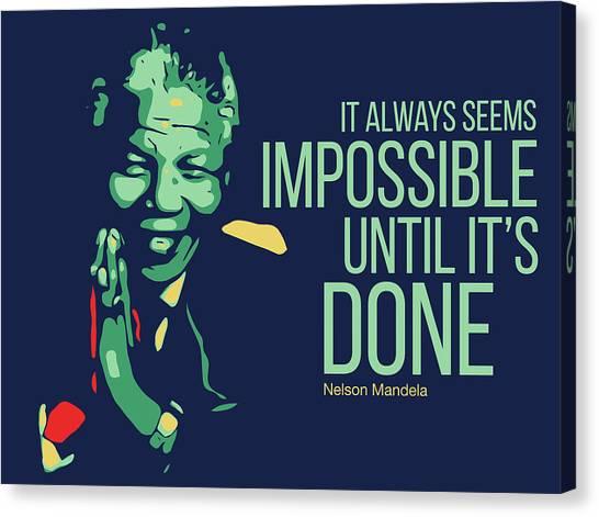Nelson Mandela Canvas Print - Nelson Mandela by Greatom London