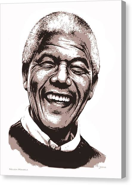 South African Canvas Print - Nelson Mandela by Greg Joens