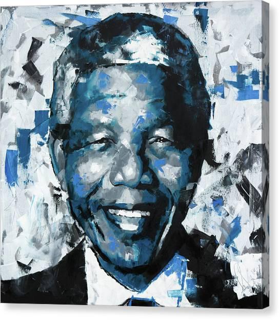 Nobel Canvas Print - Nelson Mandela II by Richard Day